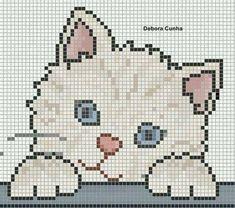 15 Ideas crochet baby blanket animals cross stitch for 2020 Cat Cross Stitches, Cross Stitch Baby, Cross Stitch Animals, Cross Stitch Charts, Cross Stitching, Cross Stitch Embroidery, Hand Embroidery, Cross Stitch Patterns, Embroidery Patterns
