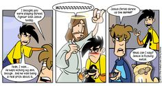 Like playing Street Fighter with Jesus Super Street Fighter, Jesus Today, Penny Arcade, Work Humor, Funny Comics, Comic Strips, Card Games, Laughter, Hilarious