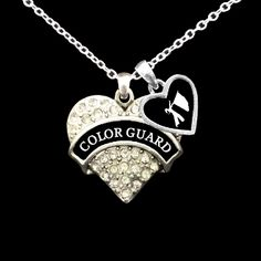 Color Guard Necklace with Accent Charm