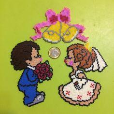 Mini Hama beads- Wedding Bells