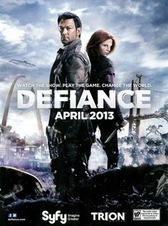 Defiance (TV Series )-great new sci-fi show. Yes I love this show. Pleased that Grant Bowler has a starring role. Defiance Tv Series, Defiance Syfy, Best Tv Shows, New Shows, Favorite Tv Shows, Movies Showing, Movies And Tv Shows, Tv Series 2013, Planets