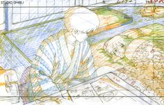 artbooksnat: Six memorable moments from the Studio Ghibli film The Wind Rises (風立ちぬ) and the original animation art behind them, featured in The Wind Rises Roman Album Extra (Amazon US | JP).
