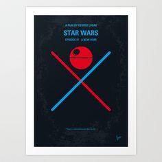 No154 My STAR WARS Episode IV A New Hope minimal movie poster Art Print by Chungkong - $18.00
