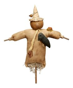 Rustic Stuffed Scarecrow by Primitives by Kathy on #zulily today!