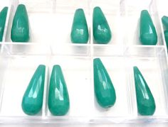 Brazilian Aquamarine teardrop faceted cone by ShimmeringCloud, $14.00