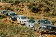 Testing the GLC, GLS and GLE offroad in Gurgaon