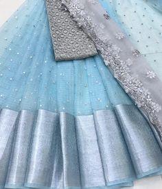 Party Wear Indian Dresses, Designer Party Wear Dresses, Indian Gowns Dresses, Indian Fashion Dresses, Lehenga Designs Simple, Half Saree Designs, Sari Blouse Designs, Half Saree Lehenga, Lehenga Saree Design