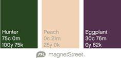 Rich, jewel-toned wedding color palette.