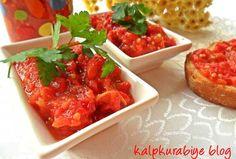 Lutenitsa ( Göçmen Sosu ) Tarifi Appetizer Salads, Appetizer Recipes, Appetizers, Cute Food, Yummy Food, Lunches And Dinners, Meals, Turkish Recipes, Ethnic Recipes