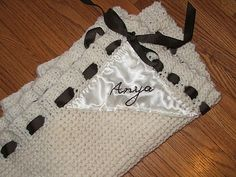 "FREE KNITTING PATTERN!  ""Once Upon a Time"" inspired baby blanket by Kassy Allen"
