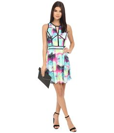 Adelyn Rae Abstract Print Fit and Flare Dress