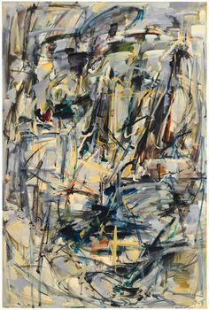 """""""Untitled"""", 1952-1953. Oil on canvas, 76 5/8 x 51 in (194.63 x 129.54 cm). Collection of the Joan Mitchell Foundation, New York. © Estate of Joan Mitchell."""