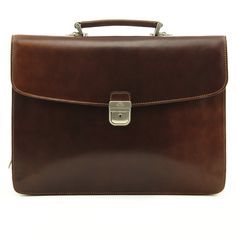 The Massimo Bellini double-compartment briefcase is available in black brown. This fine Italian leather briefcase can hold a laptop up to as well as a Laptop Briefcase, Leather Briefcase, Leather Wallet, Laptop Bags, Classic Leather, Italian Leather, Leather Laptop Case, Cute Handbags, Bellini