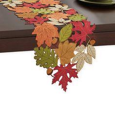 Serene Leaves Table Runner