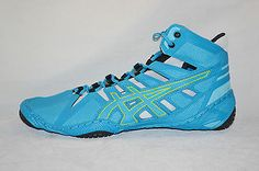 2460d792edf Asics OMNIFLEX ATTACK Mens WRESTLING Shoes Size 9.5 NEW Blue Jewel Lime  Silver