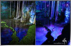 "3D Painted Room ""PANDORA""  epoxy resin floor - day & blacklight"