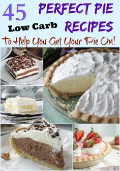 A collection of some of the best Low Carb Pies on Pinterest | low carb, gluten-free, keto