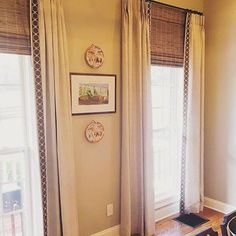 Love this so much  | Our Genesis 2in-Morel thank you @themisfithouse for sharing ・・・  The ceilings in this #diningroom are sooo tall we cheated a little with the help of these #bambooshades.  Thanks to @fringemarket for getting this beautiful trim ready quickly to make this install possible!