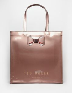 Image 1 ofTed Baker Crystal Bow Large Icon Bag