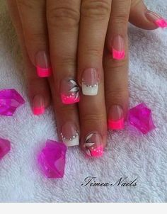 130 French Nails Ideas Sweet 130 French Nails Id+ Nail Tip Designs, French Nail Designs, Nails Design, Art Designs, Design Design, French Manicure Nails, French Tip Nails, Summer French Nails, Pink Nail Art
