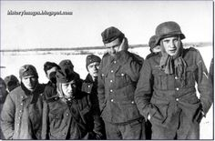 German soldiers taken prisoners near Moscow. Early 1942 - by this stage the war could still have gone in Germany's favour; but the harsh winter and retreat from Moscow foretold further dangers for the Nazi army.