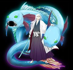 Truth of Pisces by RafinhaX on DeviantArt Ukitake Bleach, Kon Bleach, Bleach Art, Bleach Anime, Bleach Characters, Anime Characters, Bleach Funny, Manga Games, Disney Cartoons