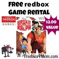 It's easy to get your unique code for a FREE Redbox Game Rental - use it any day thru May 9 http://freebies4mom.com/2013/03/13/freegame-2/