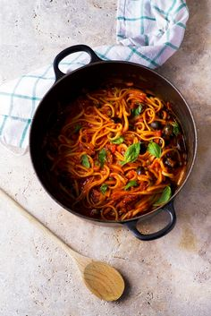 One-pot linguine with olives, capers, and sundried tomatoes   The Vegan Society