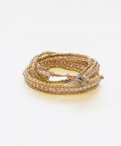 Sofiya Wrap Bracelet- beautiful and awesome for breast cancer awareness month!