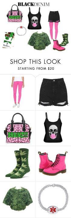 """""""InSaNe iN tHe meMbRAnE"""" by shayne-bohner ❤ liked on Polyvore featuring Fabletics, Topshop, HUF, Dr. Martens, Prada, women's clothing, women's fashion, women, female and woman"""