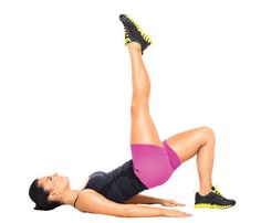 Killer Legs—No Gear Required! For this 'Butt Lifter' move, squeeze glutes and lift hips to form a straight diagonal from left knee to shoulders #SelfMagazine
