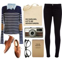 A fashion look from June 2013 featuring H&M tops, J Brand jeans and H&M oxfords. Browse and shop related looks.