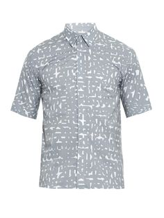 #JilSander Estace abstract-print cotton shirt #MATCHESFASHIONman