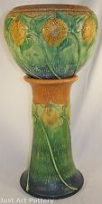 Roseville Pottery Sunflower Jardiniere and Pedestal 619-10