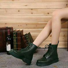 Green hard leather.