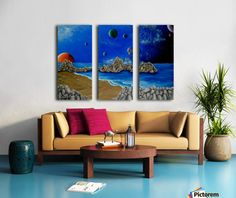Fun / Fancy Home Decor Items, horse, Triptych Horse Oil Painting, Dolphin Painting, Underwater Painting, Colourful Living Room, My Photo Gallery, Art For Sale Online, Original Vintage, Horse Portrait, Fancy Houses