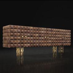 Sideboard with long legs / original design / in wood IL PEZZO 10 Il Pezzo Mancante