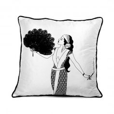 1920s Glamour Cushion - Gwendoline #Monochrome #HomeDecor #Home #HomeAccents