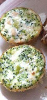 The Dukan Dietress: Mini Chicken and Broccoli Quiches   Tartitas de pollo y brócoli