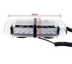 Amazon.com: Gugou 24 LEDs Strobe Amber Emergency Hazard Warning Mini Strobe Light Bar Roof Top with 7 Flash Patterns Magnetic Base (Yellow): Automotive