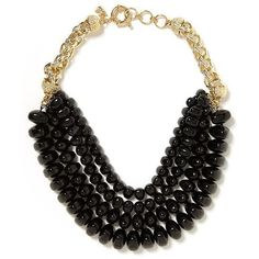 Banana Republic Bold Bead Necklace - Black (205 BRL) ❤ liked on Polyvore featuring jewelry, necklaces, accessories, collares, collier, collar jewelry, beaded necklaces, collar necklace, banana republic necklace and banana republic