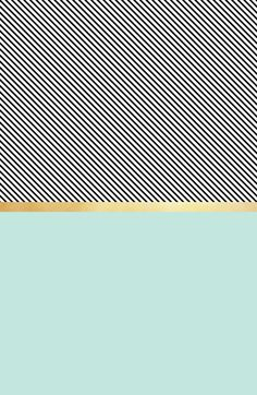 Aqua, Gold and Stripes Art Print by Electric Avenue | Society6