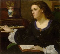 A Day Dream (1863).Edward Poynter (English, Academic, 1836–1919). Oil on canvas.Exhibited at the Royal Academy, 1863. Poynter's academic style was honed in Italy, where he met Leighton in 1853, and was persuaded to turn towards figurative painting. As much a part of the British artistic establishment as Leighton, Poynter embraced academia, working first as Slade Professor 1871-75, then as Director of the National Gallery 1894-1904; he was elected President of the Royal Academy in 1894.