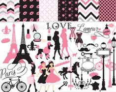 paris french clipart – Etsy