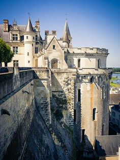 The royal Château at Amboise is a château located in Amboise, in the Indre-et-Loire département of the Loire Valley in France. Confiscated by the monarchy in the century, it became a favoured royal residence and was extensively rebuilt. Beautiful Castles, Beautiful Places, Amazing Places, Places To Travel, Places To See, Travel Destinations, Belle France, Loire Valley, Versailles