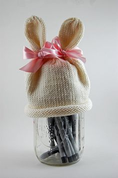 Knit Bunny Baby Hat