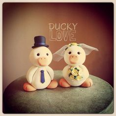 Duck Wedding Cake Topper by LuLuAmour on Etsy