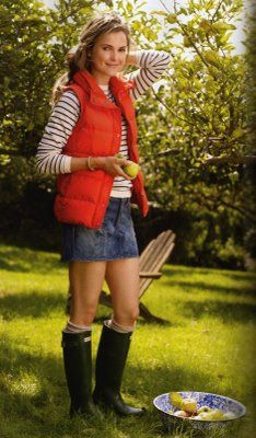 ive been thinking about hunters for a year. might have to do this soon. and i love vests. and stripes. perfect.