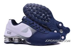 http://www.jordannew.com/2017-latest-nike-air-shox-deliver-mens-basketball-shoes-dark-blue-white-online-store-for-cheap-new-style.html 2017 LATEST NIKE AIR SHOX DELIVER MENS BASKETBALL SHOES DARK BLUE WHITE STORE FOR CHEAP ONLINE Only $90.45 , Free Shipping!