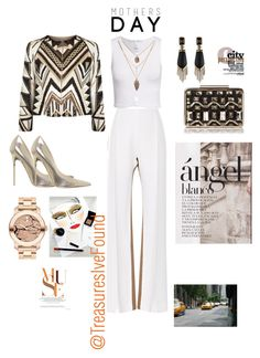 """""""#NewYork #FashionWeek #Dinner #DateNight #DateDay #Sexy #Classy #Fall #Autumn #Muse"""" by treasures-ive-found on Polyvore featuring Jonathan Saunders, NLY Trend, Alice + Olivia, Jimmy Choo, Movado, Alexis Bittar, L.K.Bennett and Creatures Of The Wind"""